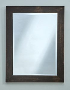 wood styled mirrors