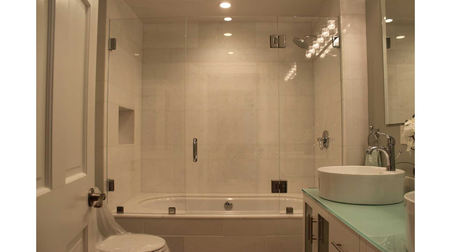 Frameless Glass Shower Enclosure in Fall River MA