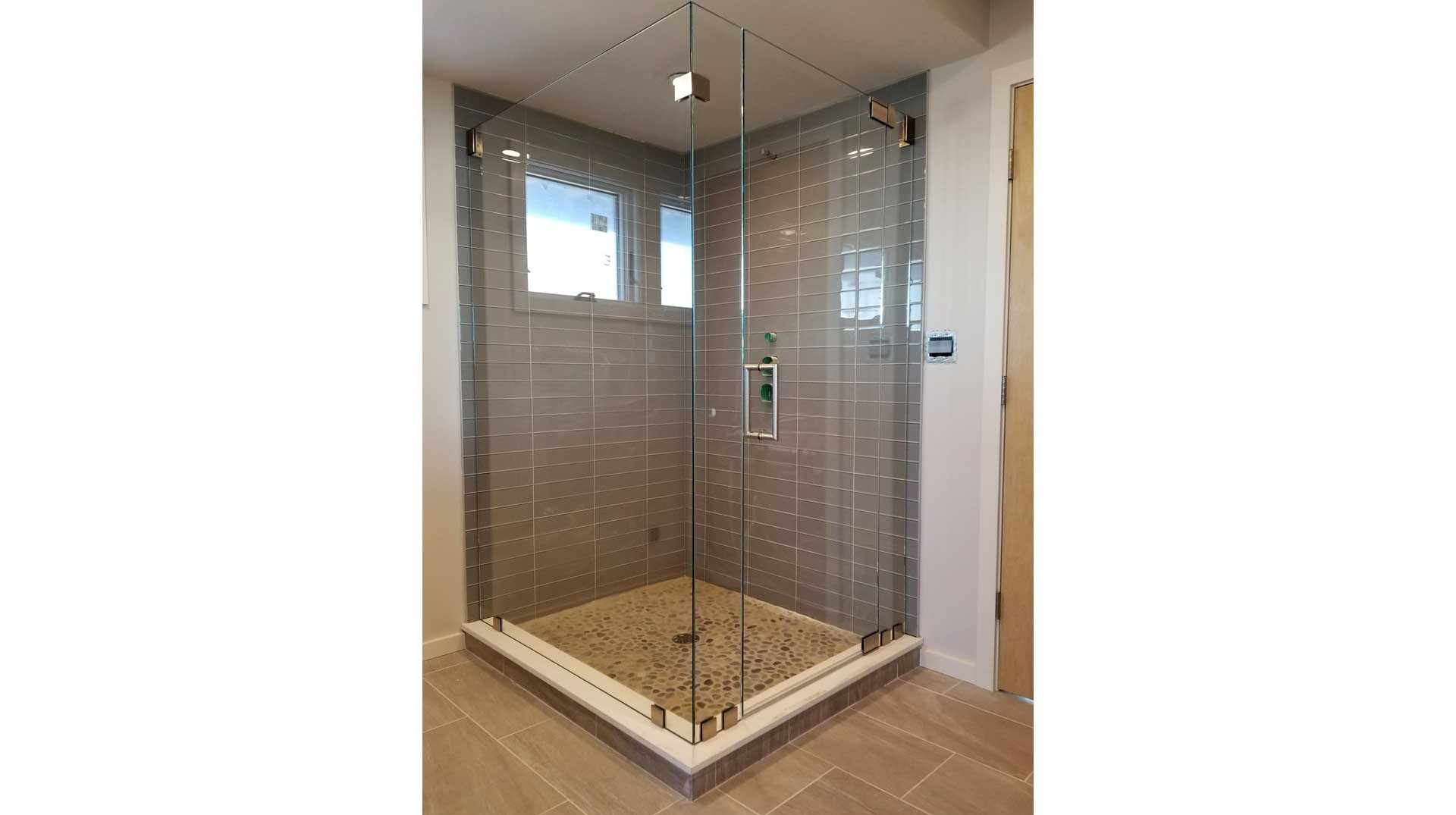 Frameless Glass Shower Enclosure On Long Beach In Plymouth MA - Bathroom remodeling plymouth ma