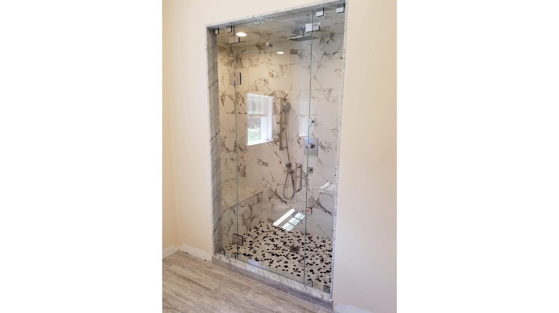 Frameless Glass Steam Shower Enclosure in Halifax MA