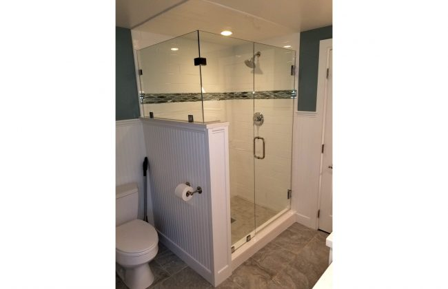Frameless Glass Shower Enclosure in Plymouth MA