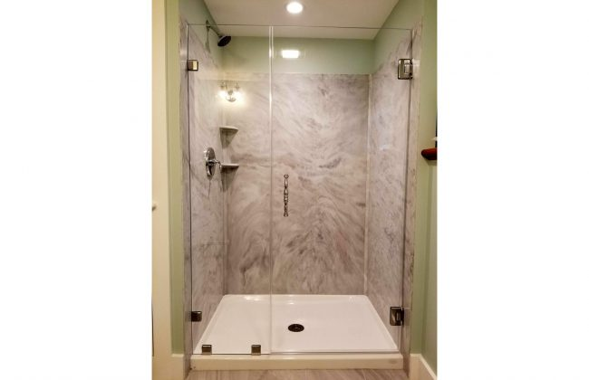 frameless shower enclosure in Bourne MA