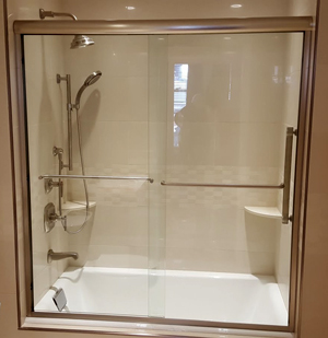 framed sliding glass shower doors