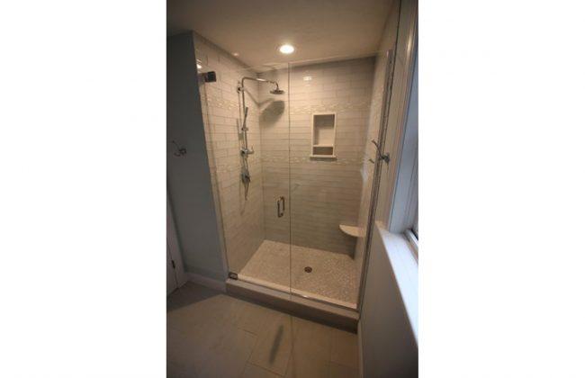 frameless shower door in Newton MA