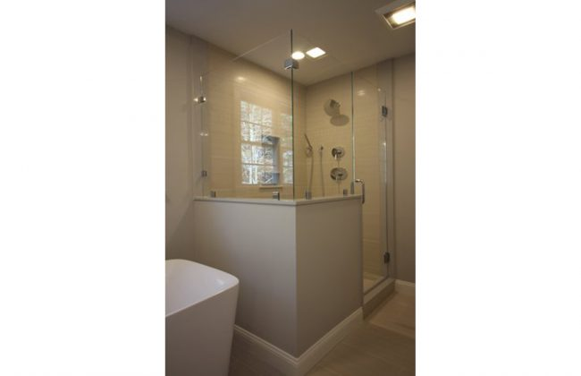 Frameless Shower Enclosure in East Bridgewater