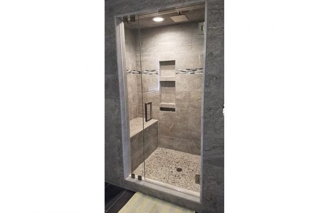 Frameless Steam Shower Door in Bridgewater