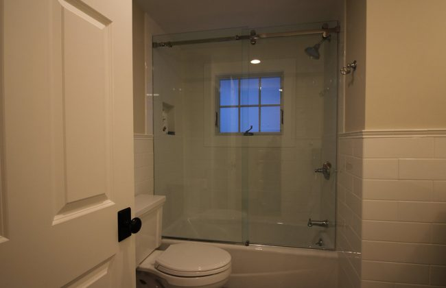 frameless sliding glass shower door