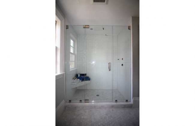 frameless glass shower enclosure plymouth