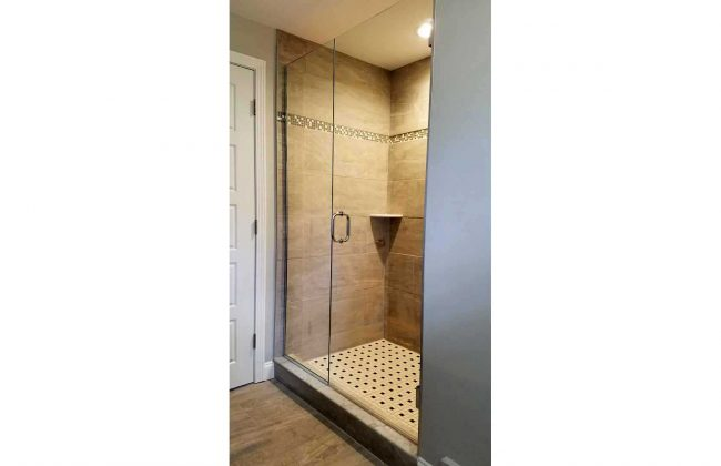 frameless glass shower enclosure in Walpole