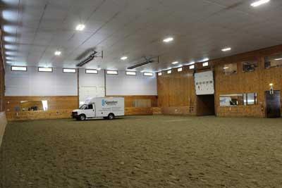 mirrors in indoor arena