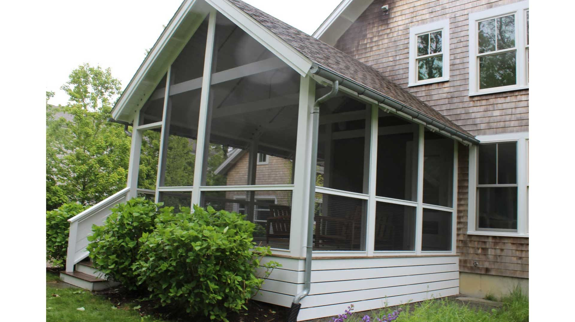 New screens in porch in Falmouth