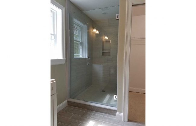 Frameless Glass Shower Enclosure in Newton MA