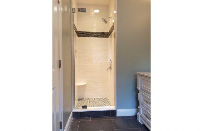 frameless shower door in Sharon MA