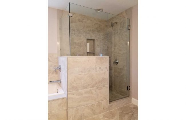 frameless shower enclosure in Sharon MA