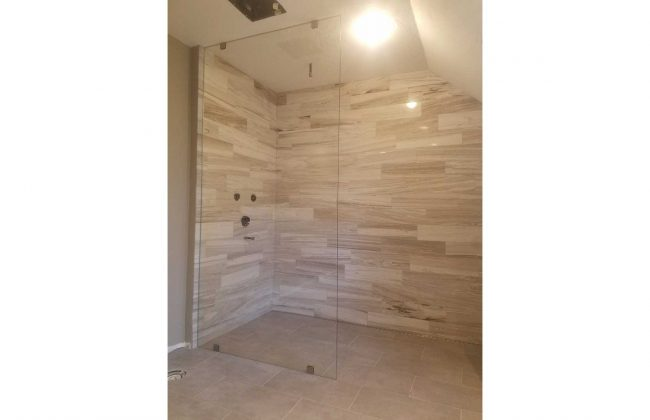Frameless Glass Shower Enclosure in Falmouth MA