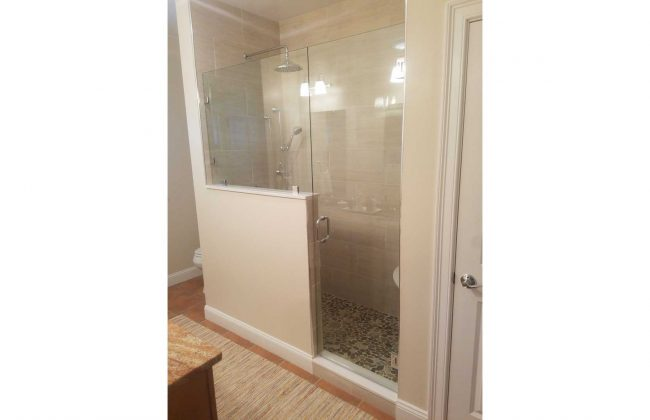 Frameless Glass Shower Enclosure in Rochester MA