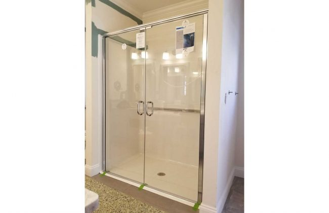 ADA compliant frameless glass shower doors