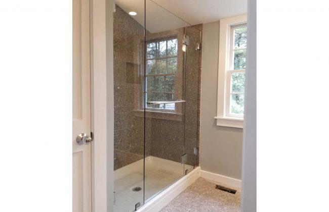 Frameless shower enclosure in Wareham MA