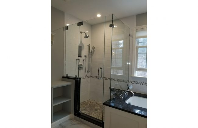 Frameless Glass Shower Enclosure in Bridgewater MA