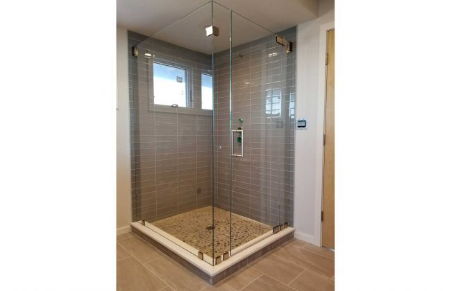 Frameless Shower Enclosure on Long Beach in Plymouth MA