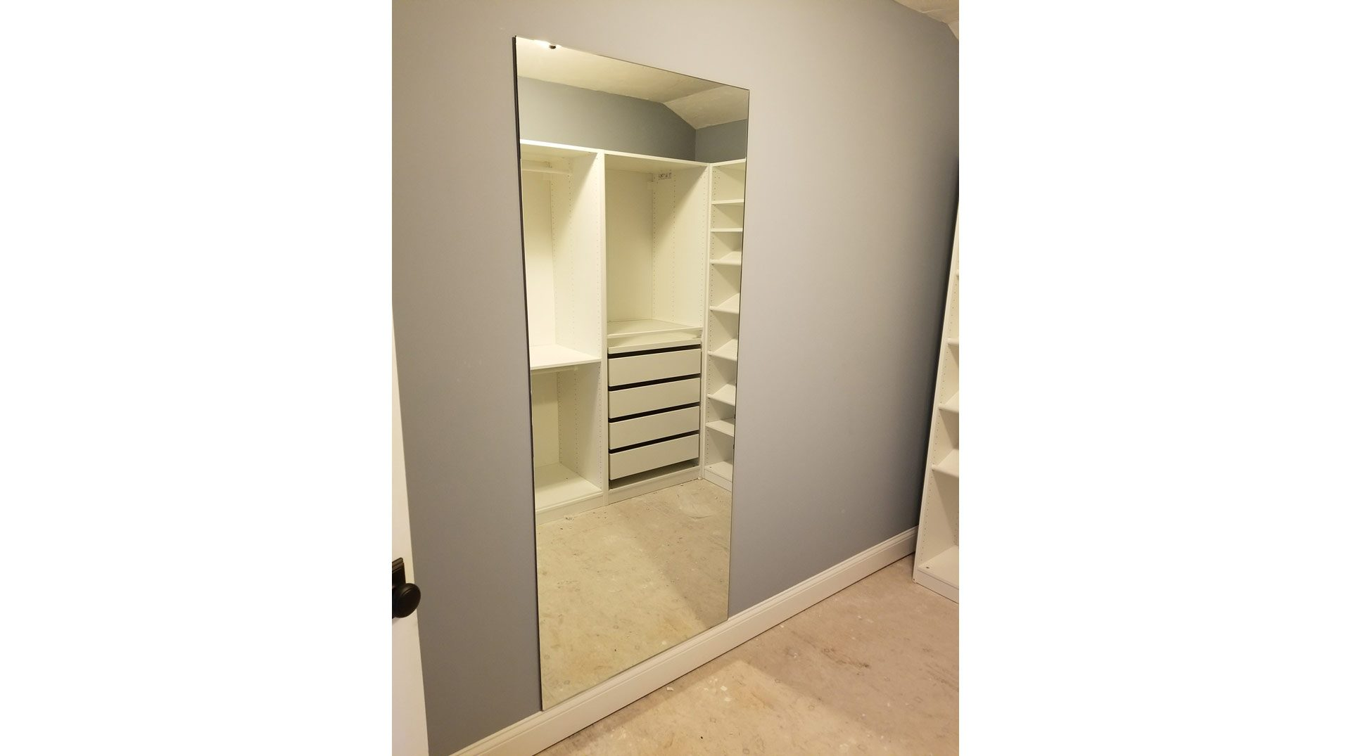 Full Length Mirror in Master Closet