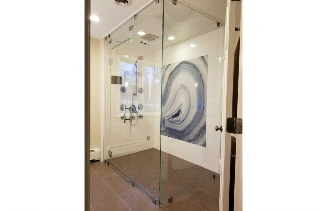 Frameless Steam Shower Enclosure in Scituate MA