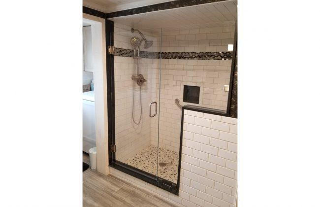 Frameless Shower Enclosure in Assonet Bay Shores