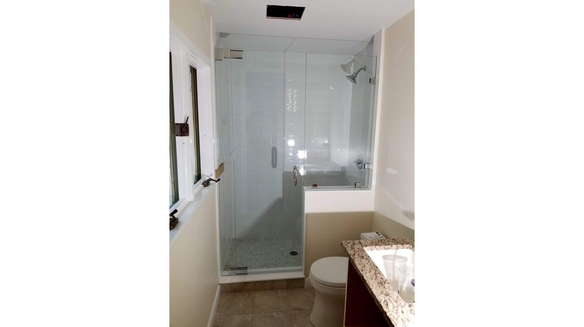 Frameless Shower Enclosure in New Seabury