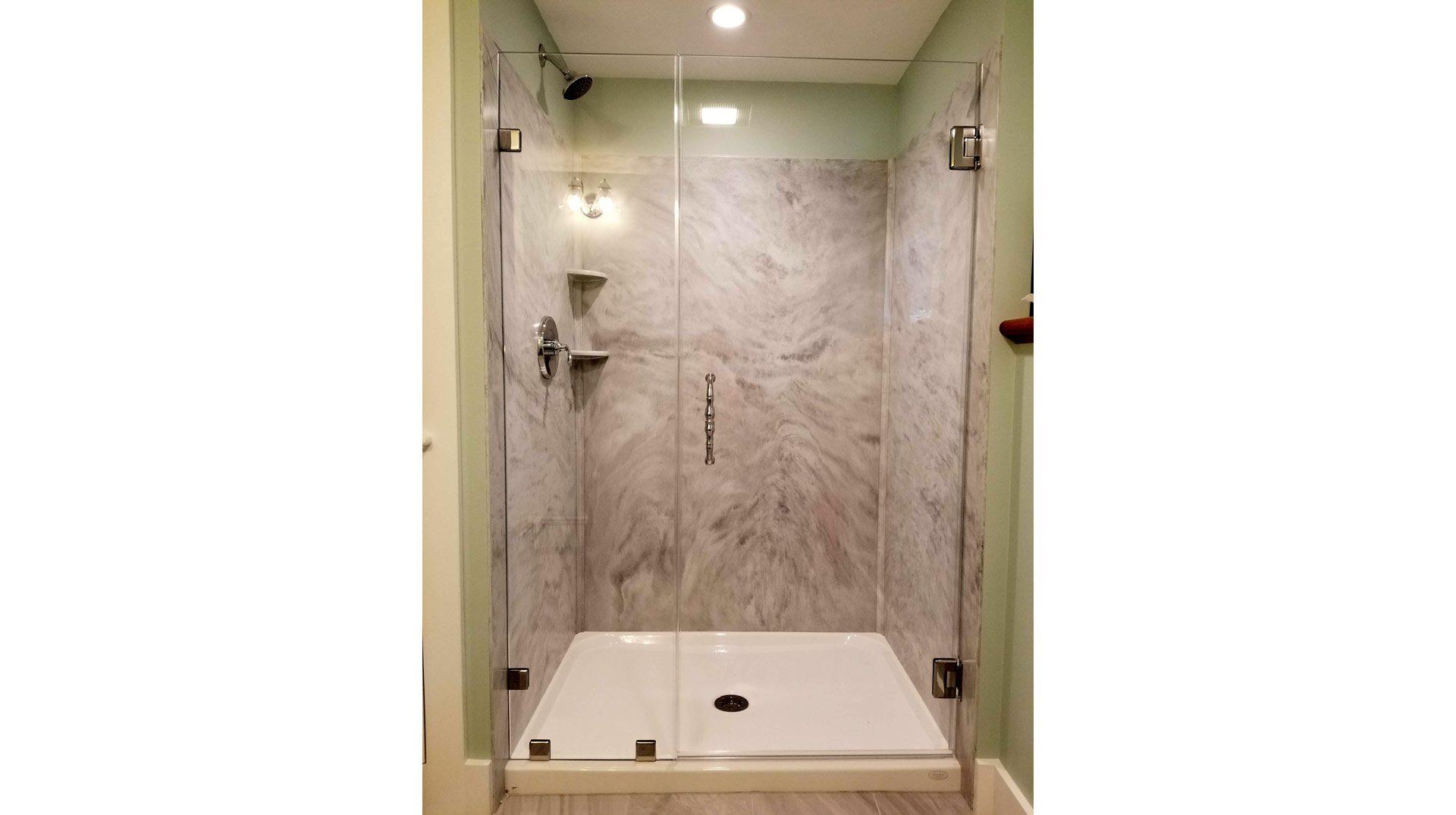 frameless shower enclosure in Bourne MA